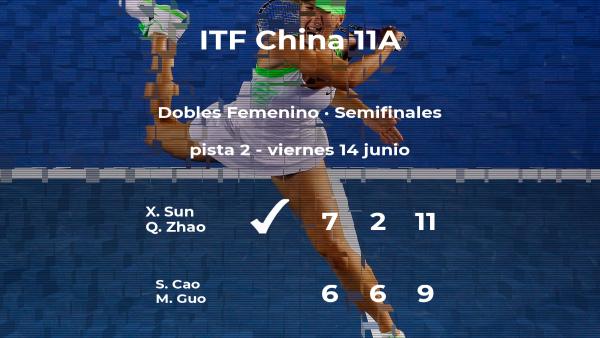 Las tenistas Cao y Guo se quedan fuera de la final del torneo de Hengyang