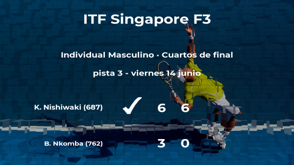 El tenista Kazuki Nishiwaki consigue clasificarse para las semifinales a costa de Benard Bruno Nkomba