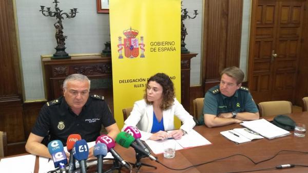 Aumentan un 22% los refuerzos policiales para verano, con 155 agentes de la Policía Nacional y 109 de la Guardia Civil