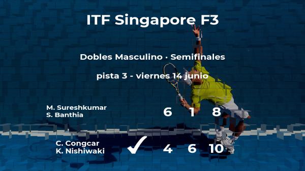 Los tenistas Congcar y Nishiwaki le arrebatan la plaza de la final a Sureshkumar y Banthia