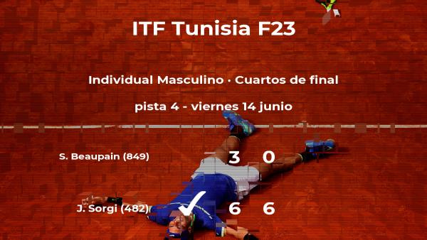El tenista Joao Pedro Sorgi consigue la plaza de las semifinales a costa de Simon Beaupain
