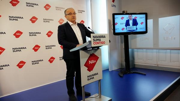 VÍDEO: Navarra Suma pide al PSN que no opte a la Alcaldía de Pamplona para que la elección no quede en manos de EH Bildu