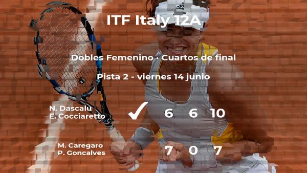Dascalu y Cocciaretto consiguen su plaza en las semifinales del torneo de Roma