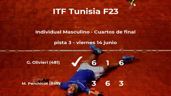 Genaro Alberto Olivieri se clasifica para las semifinales del torneo de Tabarka