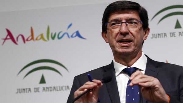 Málaga.- 26M.- Juan Marín ve 'inmediato' el acuerdo de PP y Ciudadanos en Málaga capital
