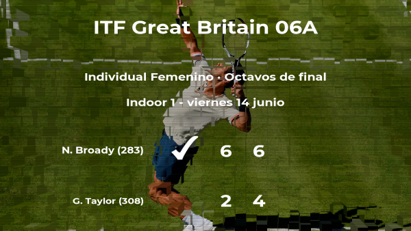 La tenista Naomi Broady pasa a los cuartos de final del torneo de Manchester