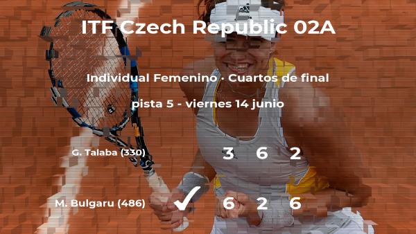 Miriam Bianca Bulgaru logra el puesto de las semifinales a costa de la tenista Gabriela Talaba