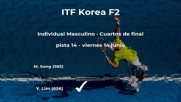 El tenista Yong-Kyu Lim logra la plaza de las semifinales a costa del tenista Min-Kyu Song