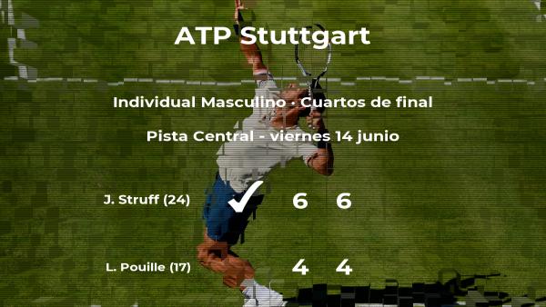 El tenista Jan-Lennard Struff le quita el puesto de las semifinales a Lucas Pouille
