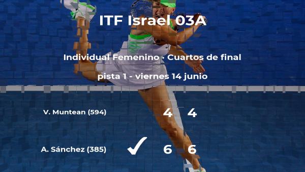 Ana Sofía Sánchez se clasifica para las semifinales del torneo de Akko