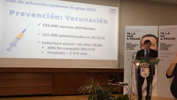 Villegas informa sobre campaña gripe