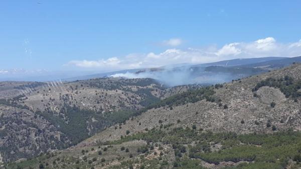 Almería.-Sucesos.- Declarado un incendio forestal en Laujar de Andarax
