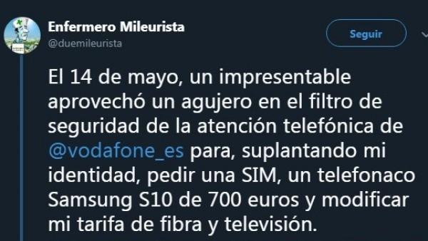 Un tuitero comparte la odisea que ha vivido con Vodafone para solucionar un fraude