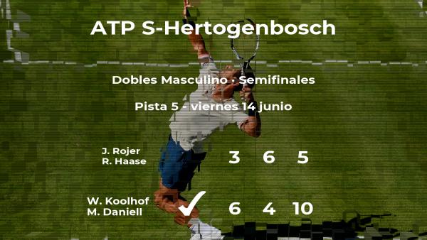 Koolhof y Daniell logran clasificarse para la final del torneo ATP 250 de 's-Hertogenbosch