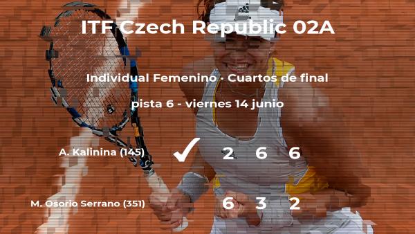La tenista Anhelina Kalinina logra clasificarse para las semifinales a costa de María Camila Osorio Serrano