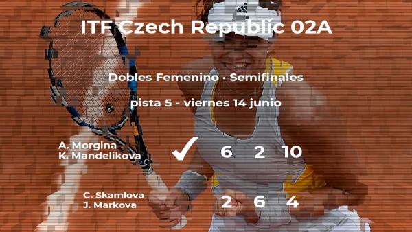 Las tenistas Skamlova y Markova se quedan a las puertas de la final del torneo de Prerov