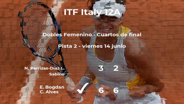 Las tenistas Parrizas-Diaz y Sabino se despiden del torneo de Roma