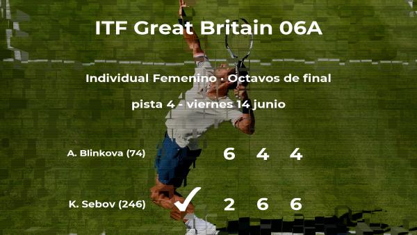 La tenista Katherine Sebov se impone los octavos de final del torneo de Manchester a pesar de los pronósticos en contra
