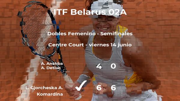 Victoria para las tenistas Gjorcheska y Komardina en las semifinales del torneo de Minsk