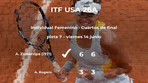 La tenista Allura Zamarripa se clasifica para las semifinales del torneo de Wesley Chapel