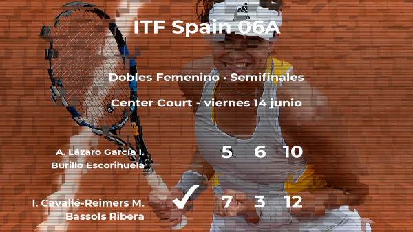 Triunfo de Cavallé-Reimers y Bassols Ribera en las semifinales del torneo de Barcelona