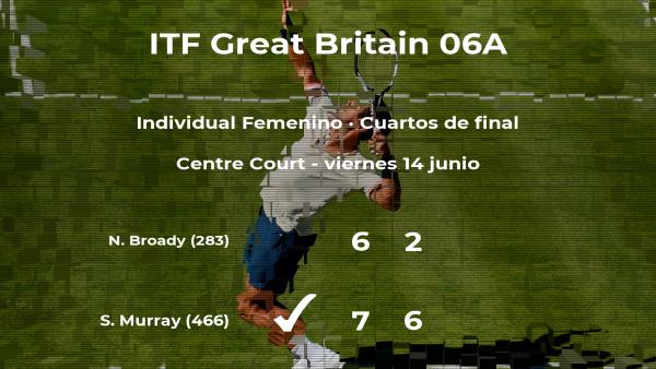 Samantha Murray logra clasificarse para las semifinales a costa de la tenista Naomi Broady