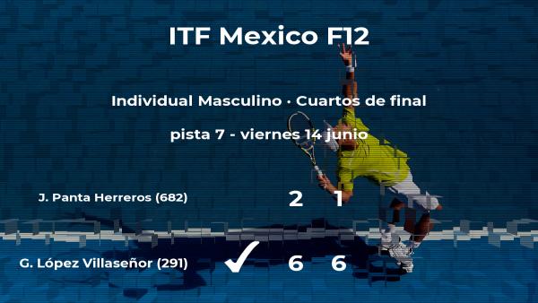 El tenista Gerardo López Villaseñor, clasificado para las semifinales del torneo de Cancún
