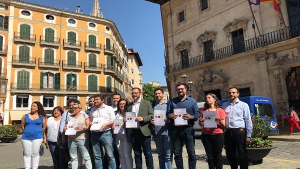 PSIB, MÉS y Podemos acuerdan formar gobierno en el Ayuntamiento de Palma tras cerrar el reparto de áreas