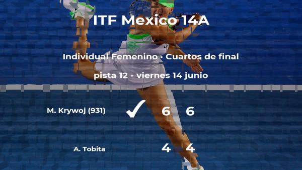 Melany Solange Krywoj gana en los cuartos de final del torneo de Cancún