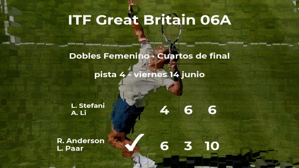 Anderson y Paar le arrebatan la plaza de las semifinales a Stefani y Li