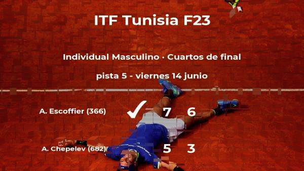 El tenista Antoine Escoffier, clasificado para las semifinales del torneo de Tabarka