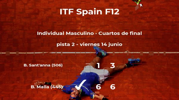 El tenista Bastián Malla se clasifica para las semifinales del torneo de Huelva