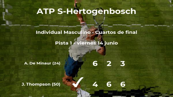 Jordan Thompson consigue clasificarse para las semifinales a costa del tenista Alex De Minaur