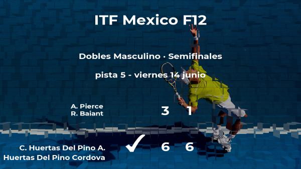 Huertas Del Pino y Huertas Del Pino Cordova se imponen en las semifinales del torneo de Cancún