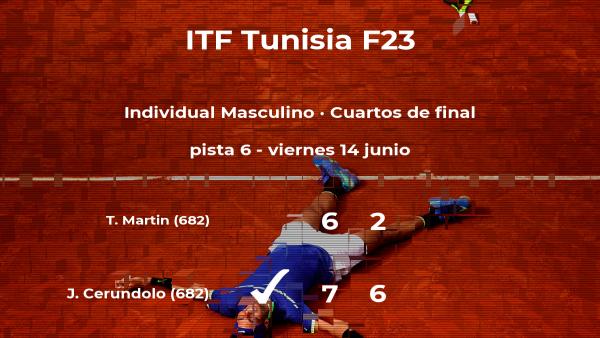 El tenista Juan Manuel Cerundolo se clasifica para las semifinales del torneo de Tabarka