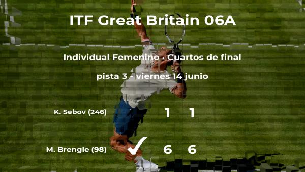 La tenista Madison Brengle consigue clasificarse para las semifinales del torneo de Manchester
