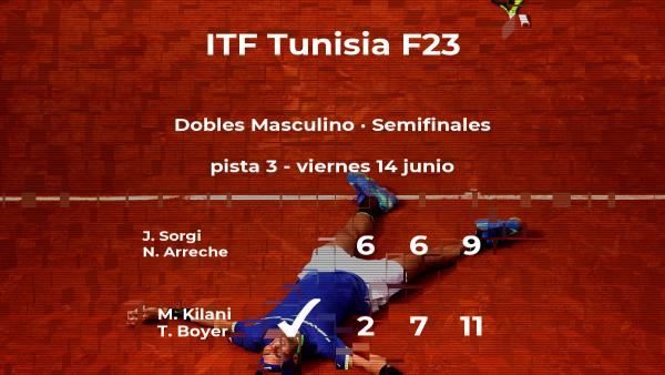 Sorgi y Arreche se quedan a las puertas de la final del torneo de Tabarka