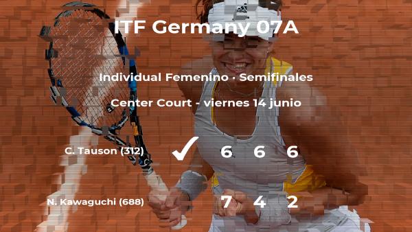 Clara Tauson vence en las semifinales del torneo de Kaltenkirchen