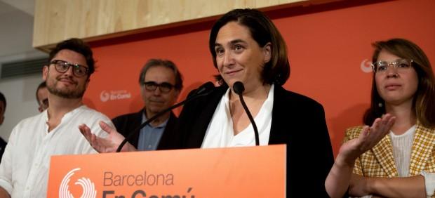 Ada Colau anuncia los resultados de la encuesta a las bases de BComú