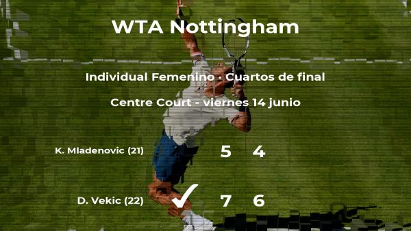 La tenista Donna Vekic consigue clasificarse para las semifinales del torneo WTA International de Nottingham