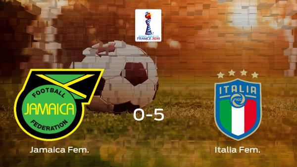 Sólido triunfo para el equipo italiano: Jamaica 0-5 Italia