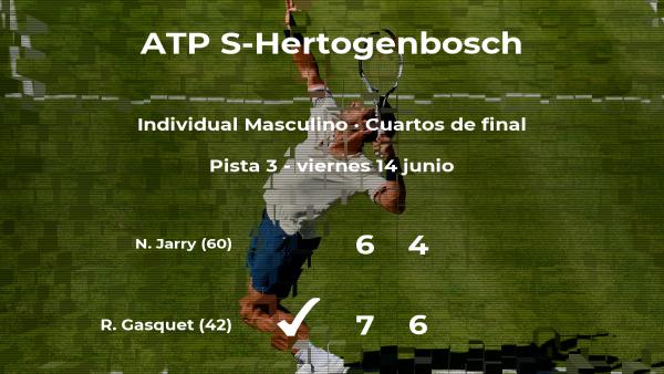 Richard Gasquet se hace con la plaza de las semifinales a expensas de Nicolas Jarry