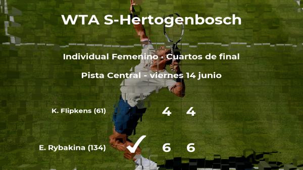 La tenista Elena Rybakina, clasificada para las semifinales del torneo WTA International de 's-Hertogenbosch