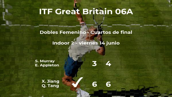 Las tenistas Murray y Appleton se despiden del torneo de Manchester