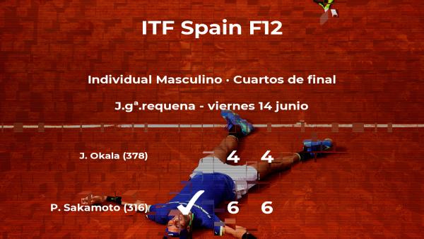 El tenista Pedro Sakamoto consigue clasificarse para las semifinales a costa del tenista Jules Okala