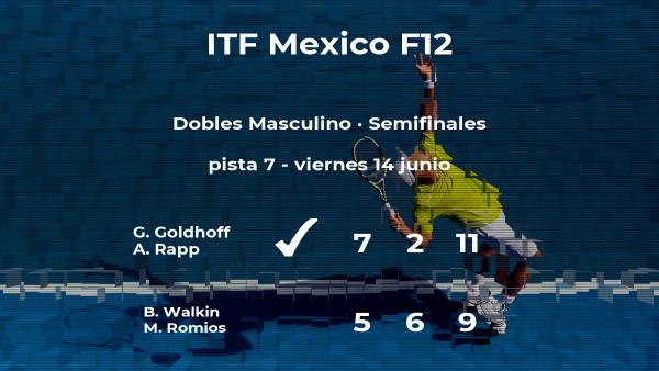 Goldhoff y Rapp se clasifican para la final del torneo de Cancún