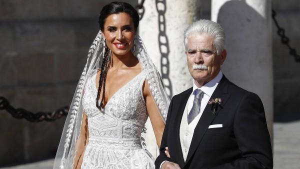 Pilar Rubio junto a su padre Manuel Rubio