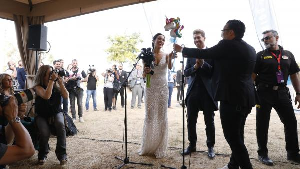 Pilar Rubio recibe un unicornio