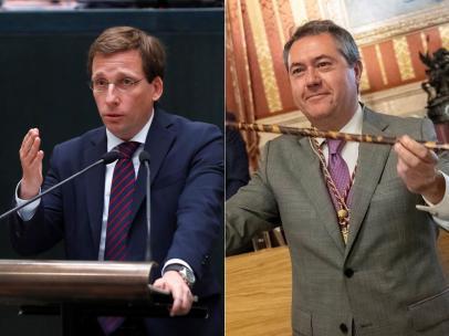 José Luis Martínez-Almeida y Juan Espadas