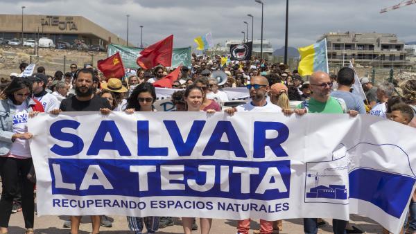 Los ecologistas piden al Estado que paralice las obras del hotel de La Tejita (Tenerife)